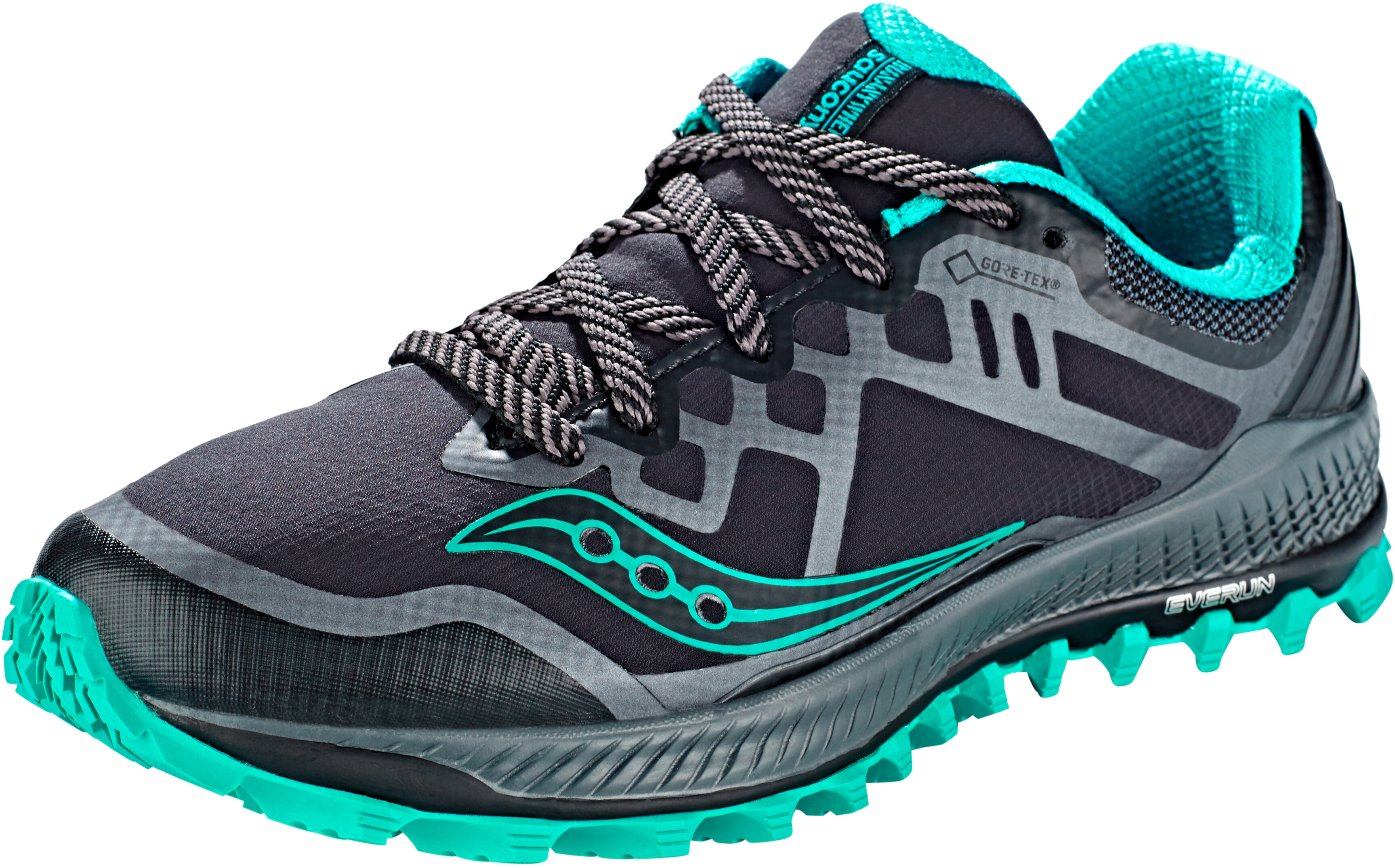 sale retailer 228a0 4917b saucony Peregrine 8 GTX Shoes Women black/grey/blue
